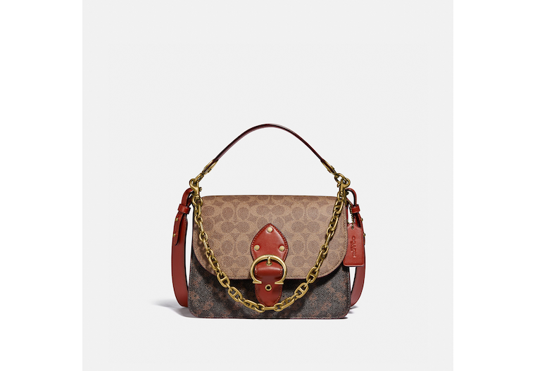 Beat Shoulder Bag In Signature Canvas With Horse And Carriage Print image number 0