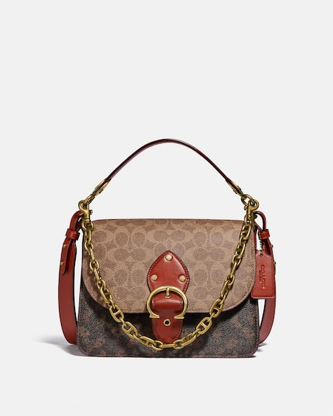 Beat Shoulder Bag In Signature Canvas With Horse And Carriage Print