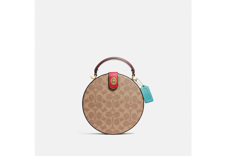Lunar New Year Circle Bag In Signature Canvas image number 0