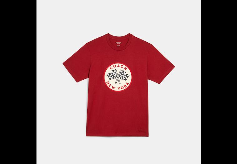 T-shirt Coach à motif Drapeaux de course image number 0