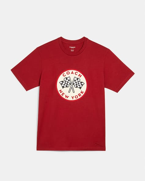 Coach Racing Flags T Shirt
