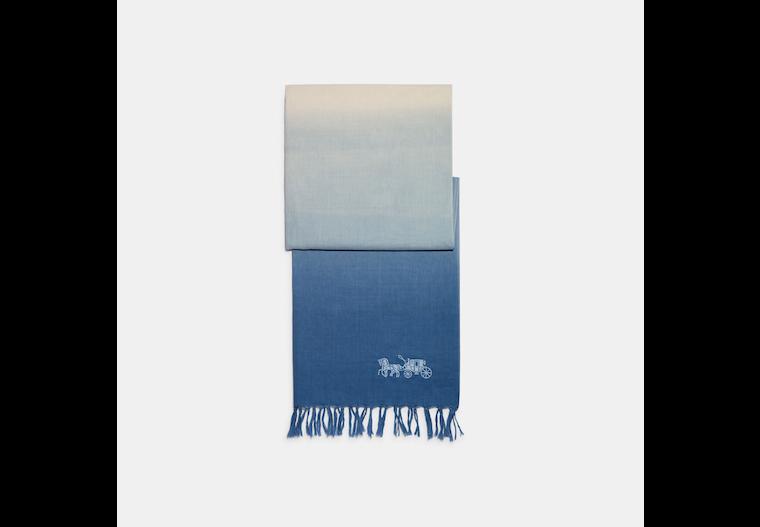 Dip Dye Linen Oblong Scarf image number 0