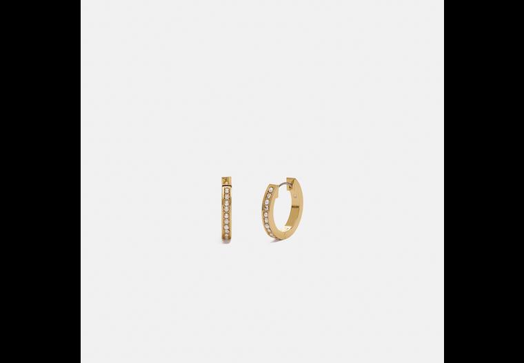 Classic Crystal Pearl Huggie Earrings image number 0