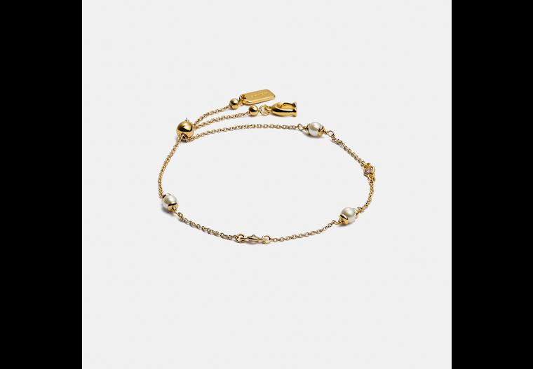Classic Crystal Pearl Slider Bracelet image number 0