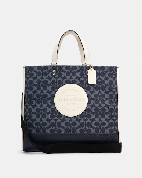 Dempsey Tote 40 In Signature Jacquard With Patch