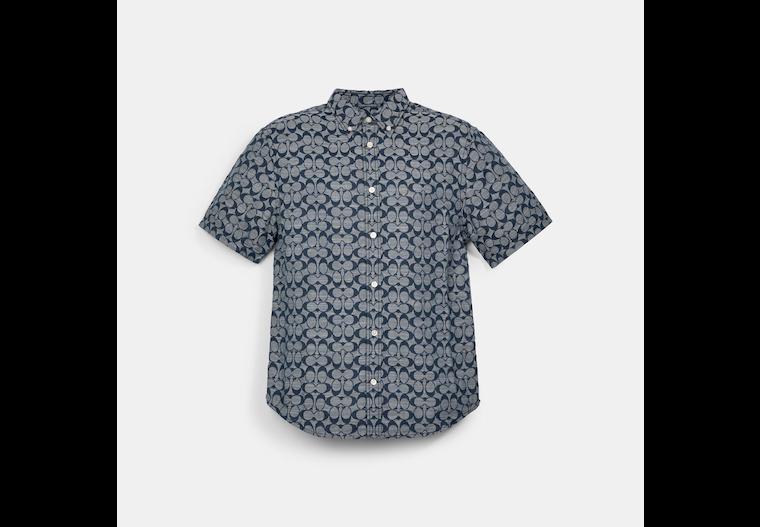 T-shirt en chambray Signature image number 0