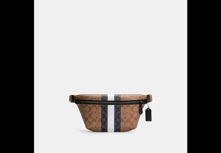 Grade Belt Bag In Signature Canvas With Varsity Stripe image number 0