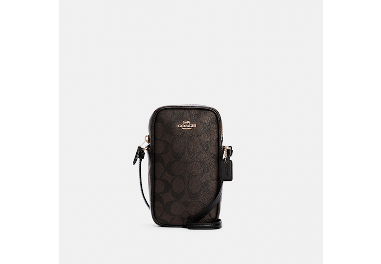 North/South Zip Crossbody In Signature Canvas image number 0