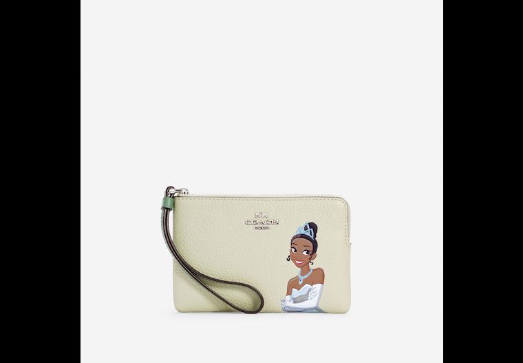 Disney X Coach Corner Zip Wristlet With Tiana image number 0
