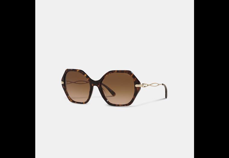 Sculpted Signature Hexagon Sunglasses image number 0