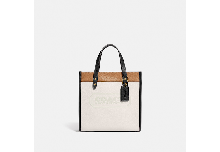 Field Tote 22 In Colorblock With Coach Badge image number 0
