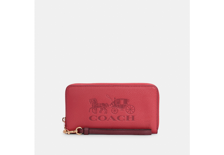Long Zip Around Wallet With Horse And Carriage image number 0