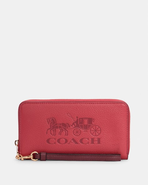 Long Zip Around Wallet With Horse And Carriage