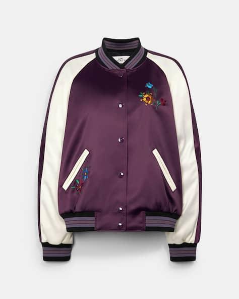 Floral Embroidered Souvenir Jacket