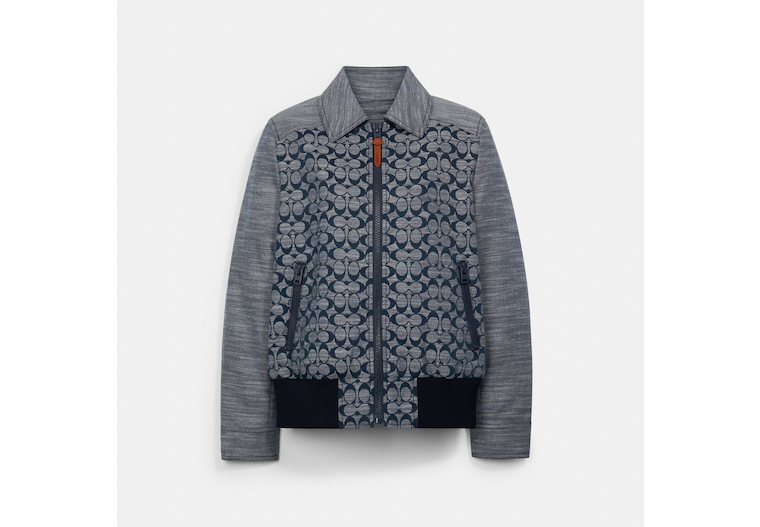 Chambray Signature Bomber image number 0