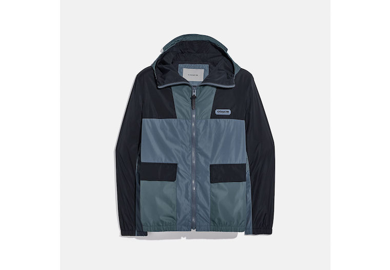 Colorblock Windbreaker In Recycled Polyester image number 0