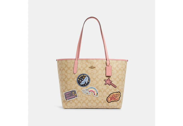 Disney X Coach City Tote In Signature Canvas With Patches image number 0