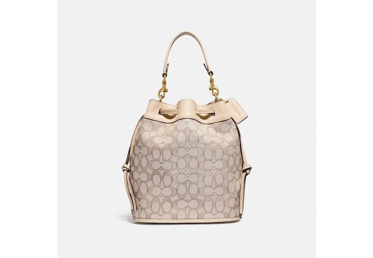 Field Bucket Bag In Signature Jacquard image number 0