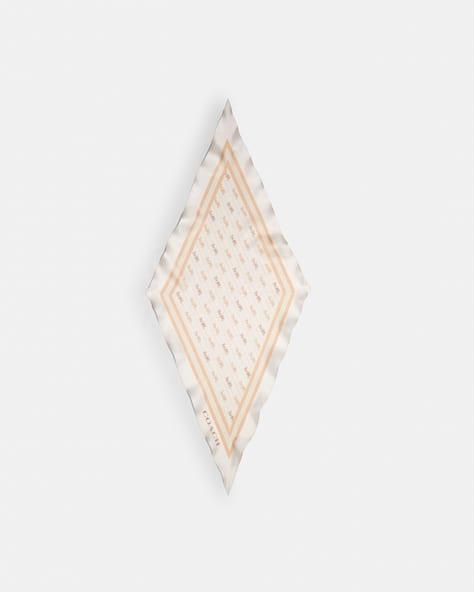 Horse And Carriage Print Silk Diamond Scarf
