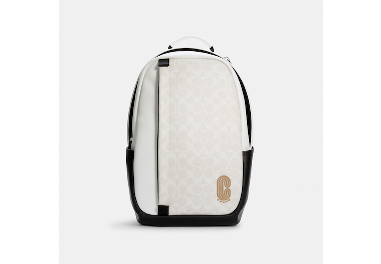 Edge Backpack In Colorblock Signature Canvas image number 0