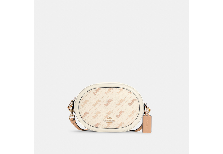 Camera Bag With Horse And Carriage Dot Print image number 0