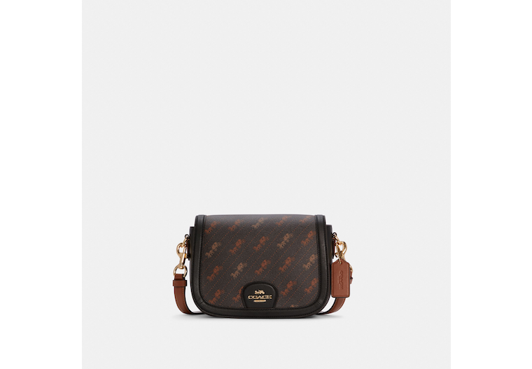 Saddle Bag With Horse And Carriage Dot Print image number 0