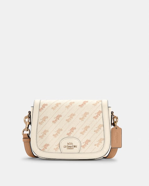 Saddle Bag With Horse And Carriage Dot Print