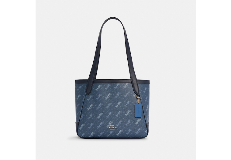 Horse And Carriage Tote 27 With Horse And Carriage Dot Print image number 0