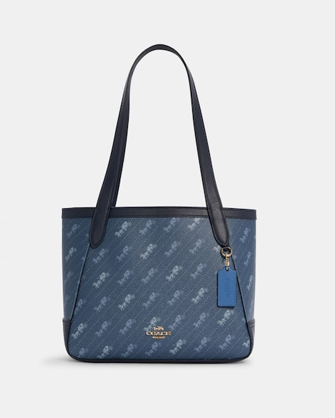 Horse And Carriage Tote 27 With Horse And Carriage Dot Print