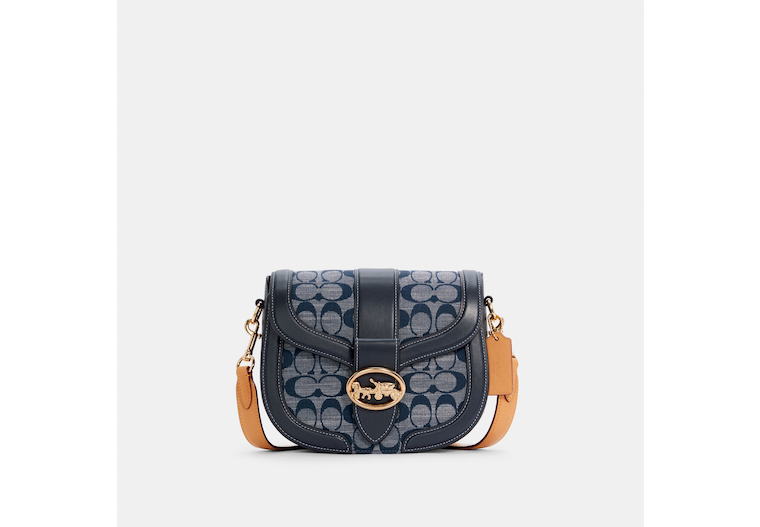 Georgie Saddle Bag In Signature Chambray image number 0