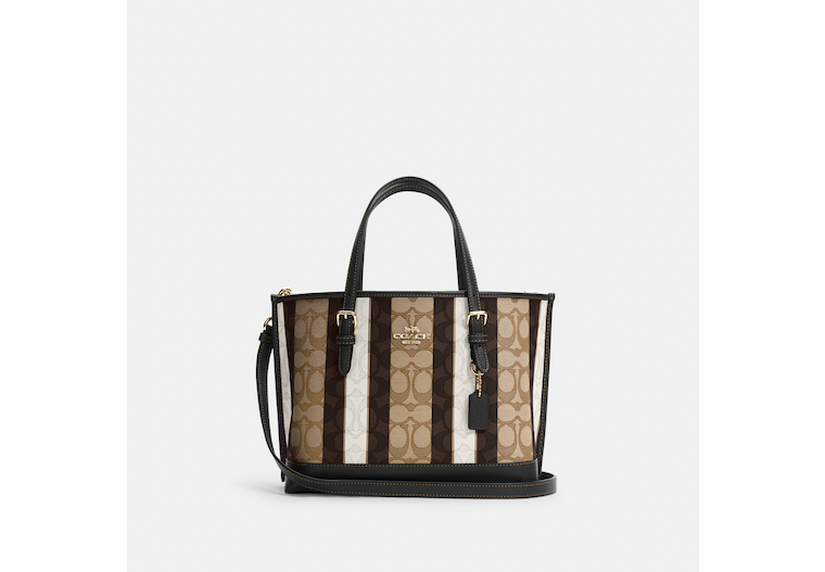 Mollie Tote 25 In Signature Jacquard With Stripes image number 0