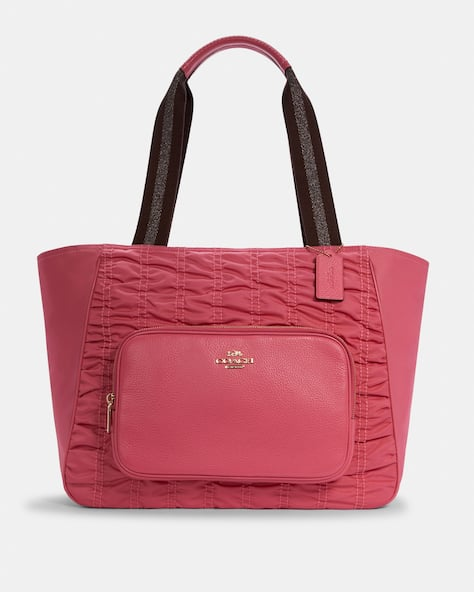 Court Tote With Ruching