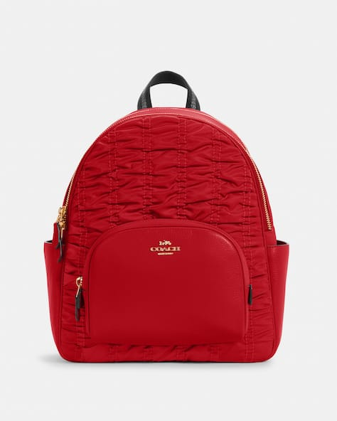 Court Backpack With Ruching