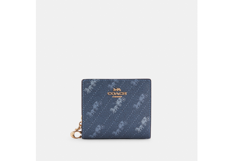 Snap Wallet With Horse And Carriage Dot Print image number 0