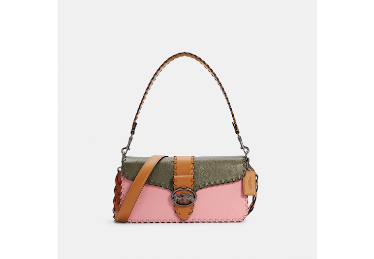Georgie Shoulder Bag In Colorblock With Whipstitch image number 0