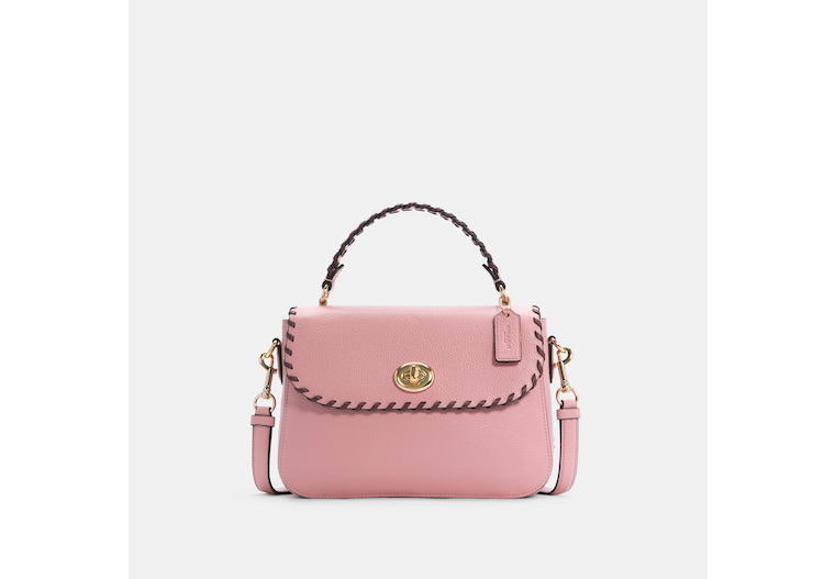 Marlie Top Handle Satchel With Whipstitch image number 0