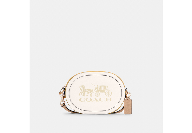 Camera Bag In Colorblock With Horse And Carriage image number 0