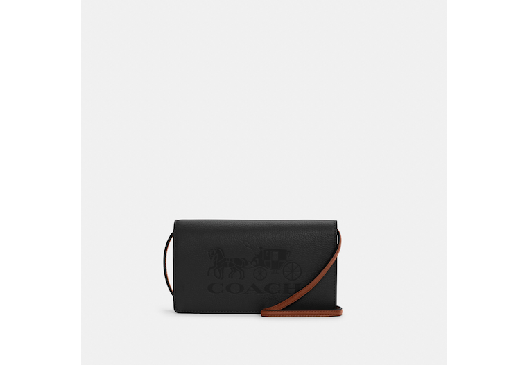 Anna Foldover Crossbody Clutch With Horse And Carriage image number 0