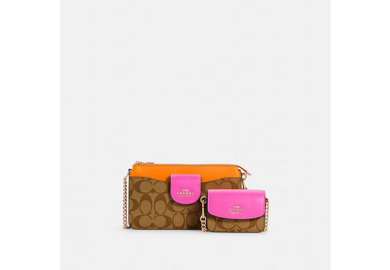 Poppy Crossbody In Colorblock Signature Canvas image number 0