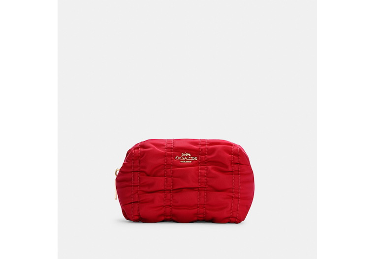Small Boxy Cosmetic Case With Ruching image number 0