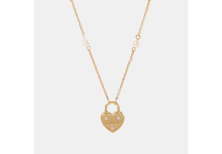 Heart Padlock Pendant Necklace image number 0