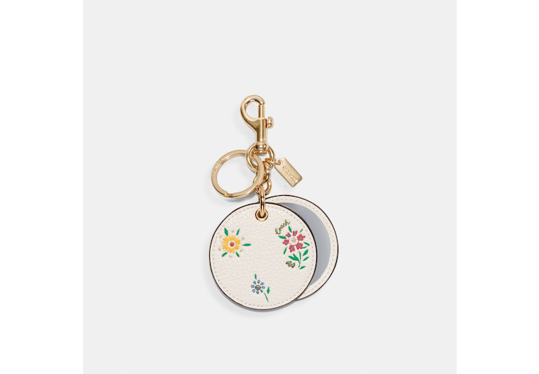 Mirror Bag Charm With Spaced Wild Meadow Print image number 0