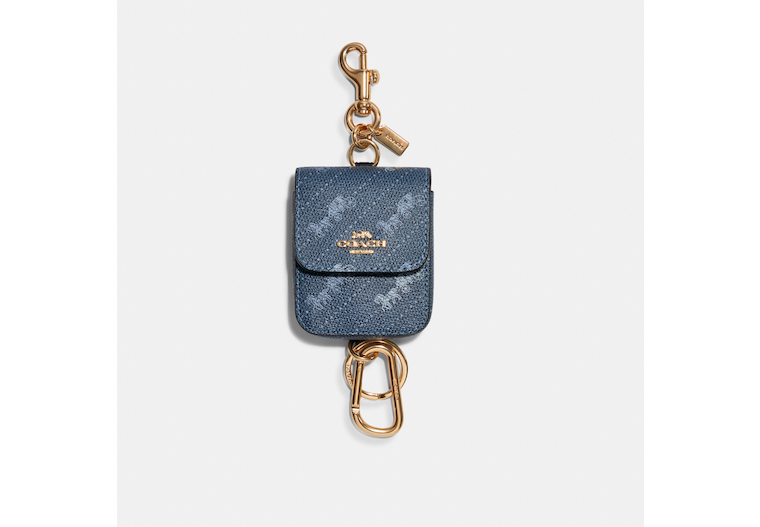 Multi Attachments Case Bag Charm With Horse And Carriage Dot Print image number 0