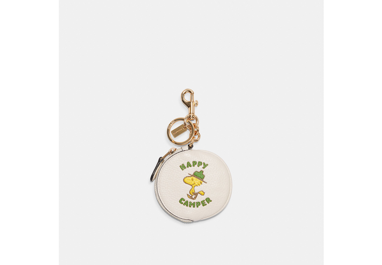 Coach X Peanuts Circular Pouch Bag Charm With Woodstock image number 0