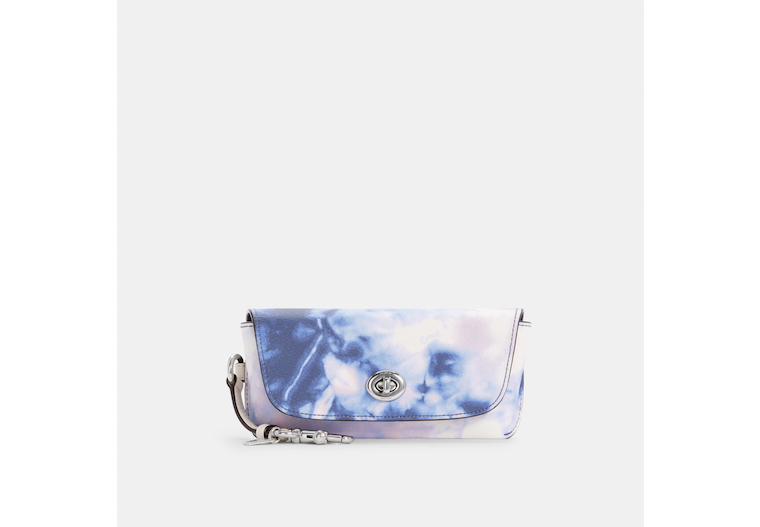 Sunglass Case With Tie Dye Print image number 0