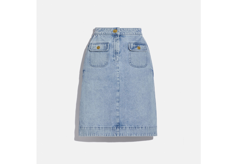 Washed Denim Skirt image number 0