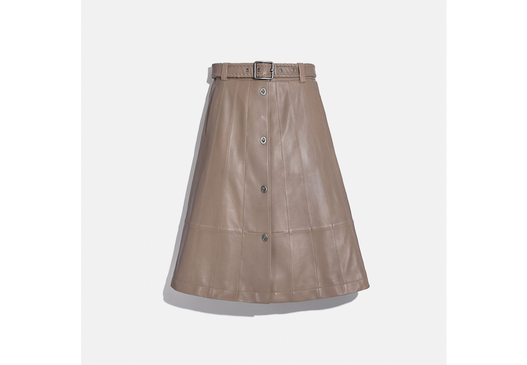 Paneled Trench Skirt image number 0