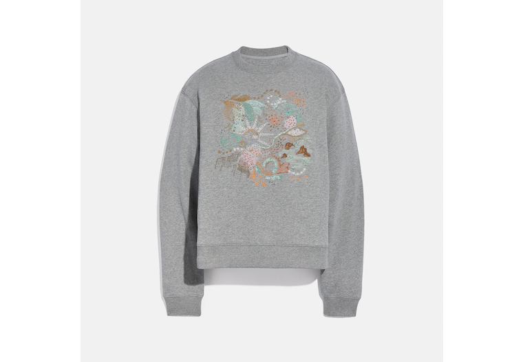 Doodle Embroidered Sweatshirt In Organic Cotton image number 0