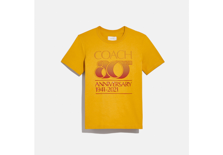Coach 80 Th Anniversary T Shirt In Organic Cotton image number 0