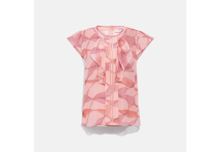 Printed Ruffle Blouse image number 0
